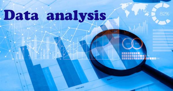 softver analiza podataka slova povećalo plava pozadina na kojoj su grafikoni
