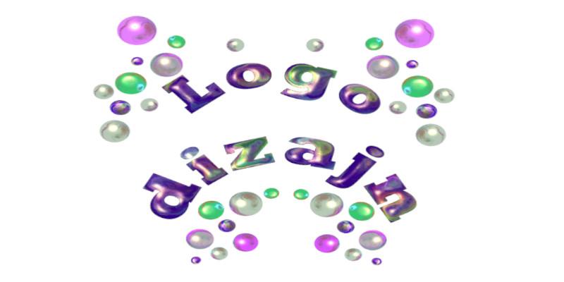 dizajn logo šarena slova bijela pozadina